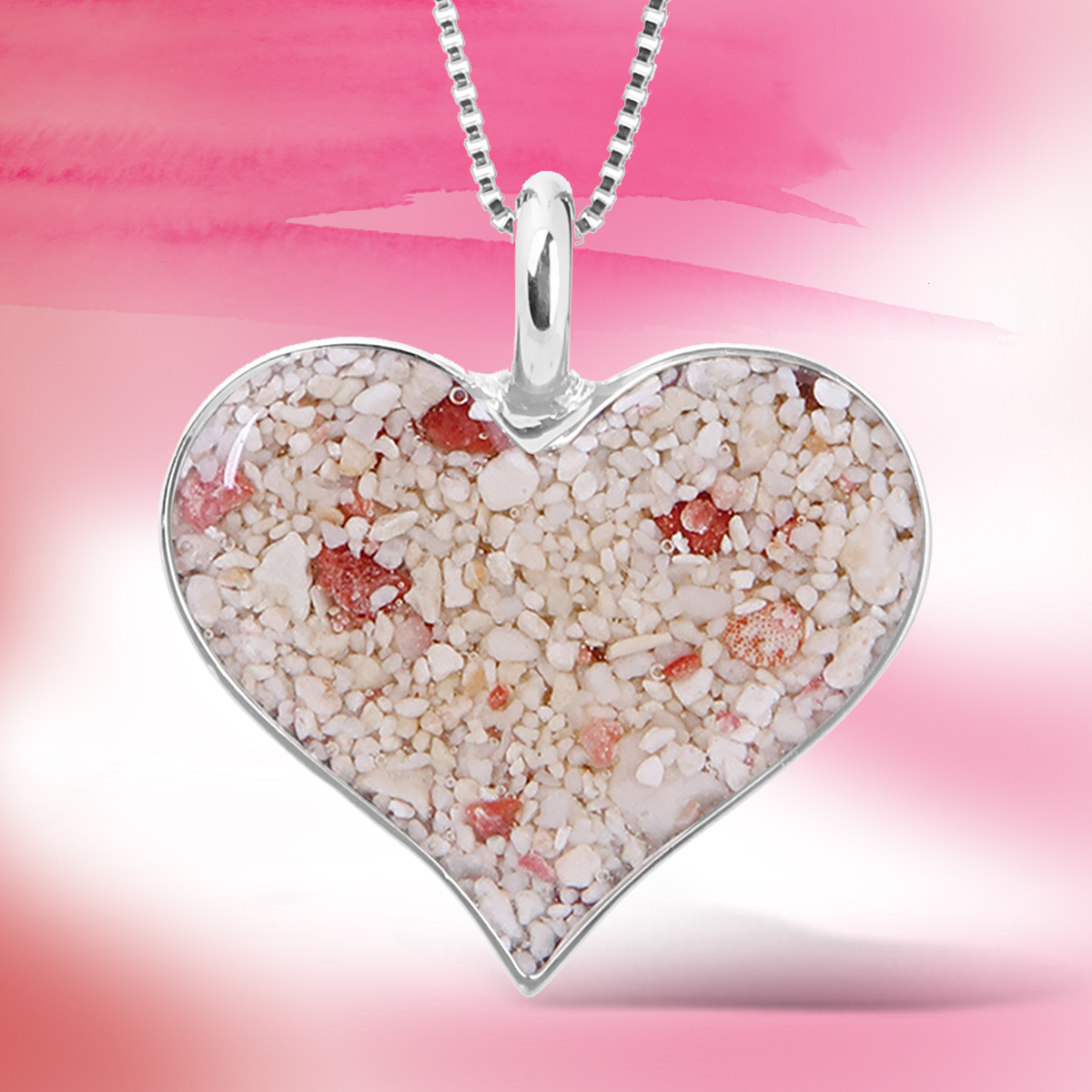 jewelry with meaning - valentines day gifts heart of sand necklace
