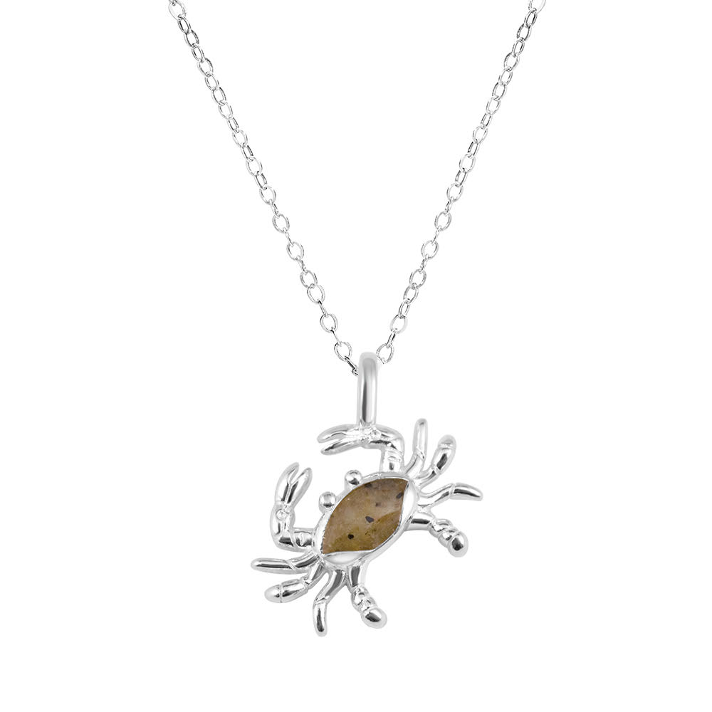 ocean inspired jewelry sterling silver crab necklace