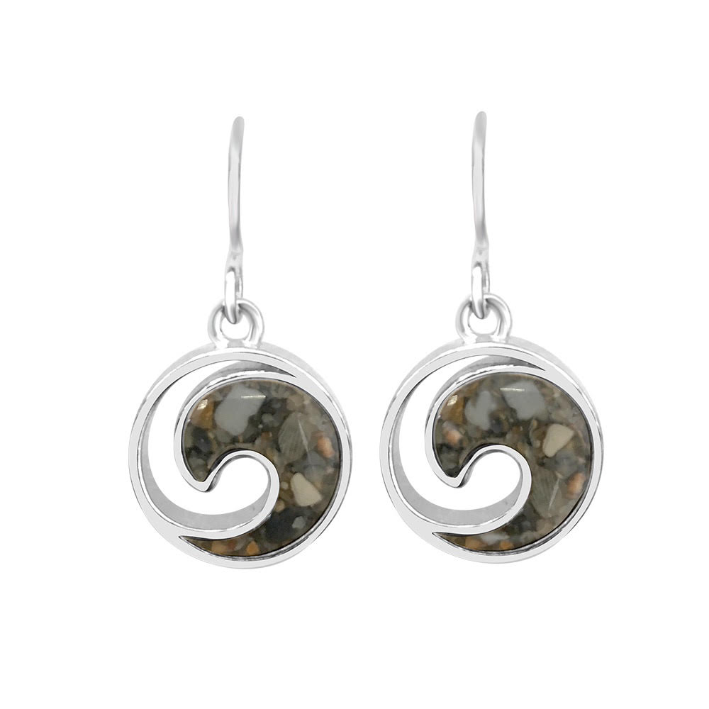 ocean inspired jewelry sterling wave earrings