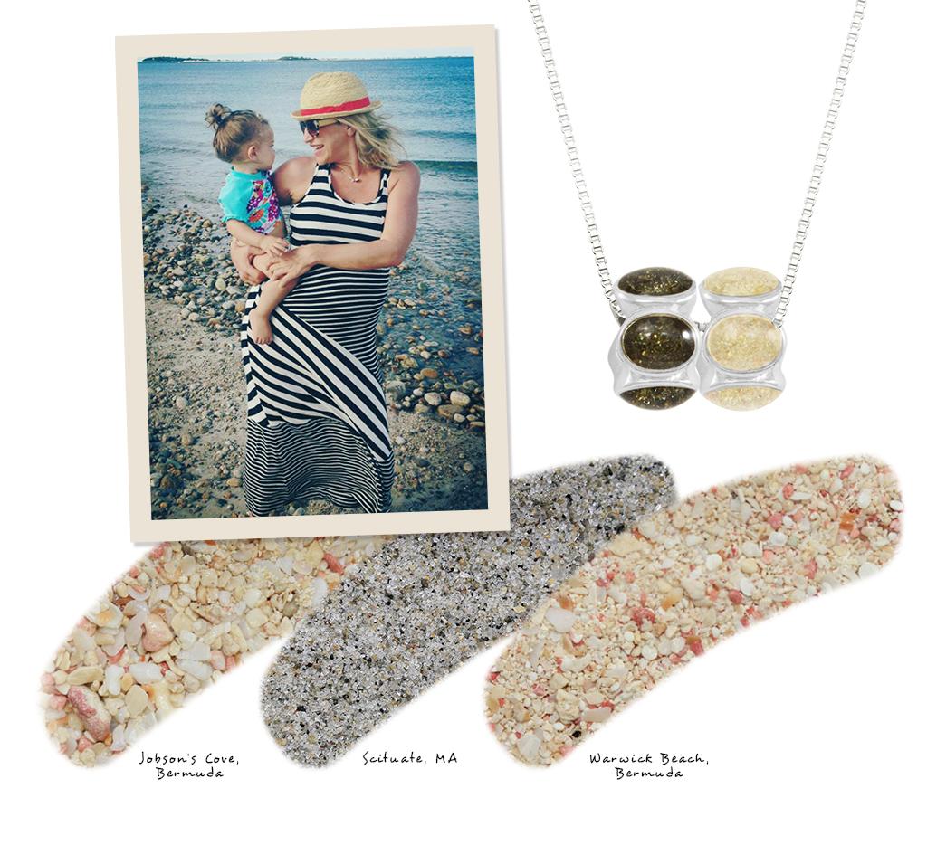 gift memories of beach sand jewelry