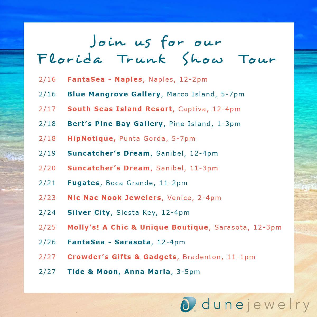 dunejewelry-trunkshowschedremainingdates