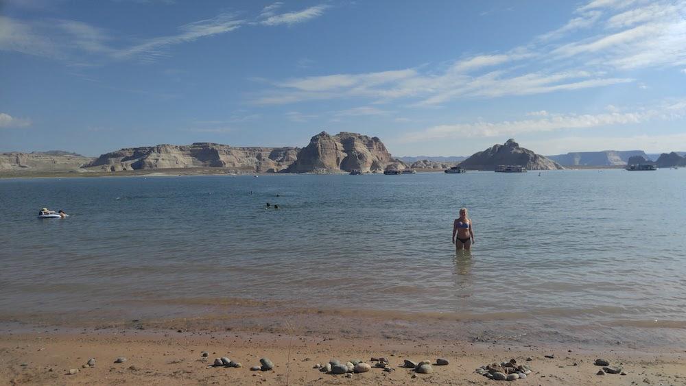 Wahweap beach