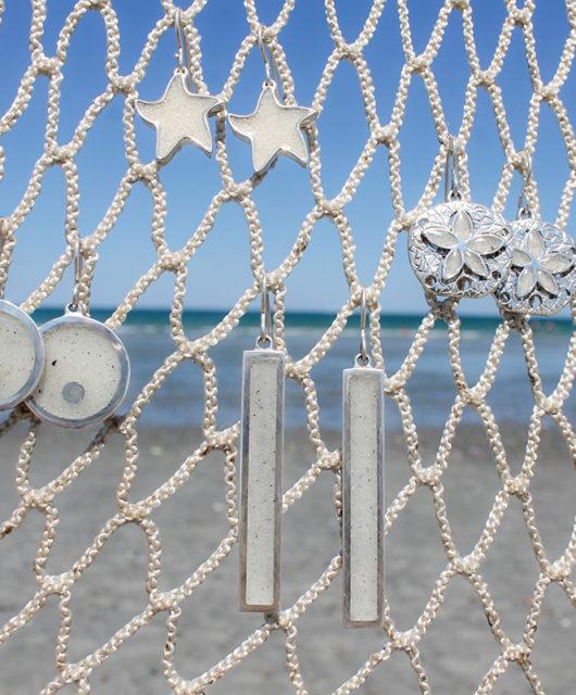 Silver Sand Earrings
