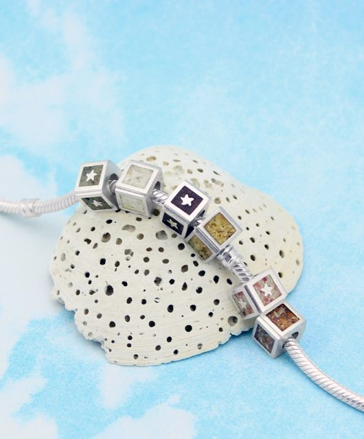 Square Sandbead - Personalized Charm Bracelets
