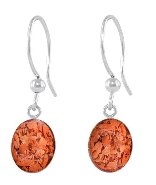 Red Opal Earrings