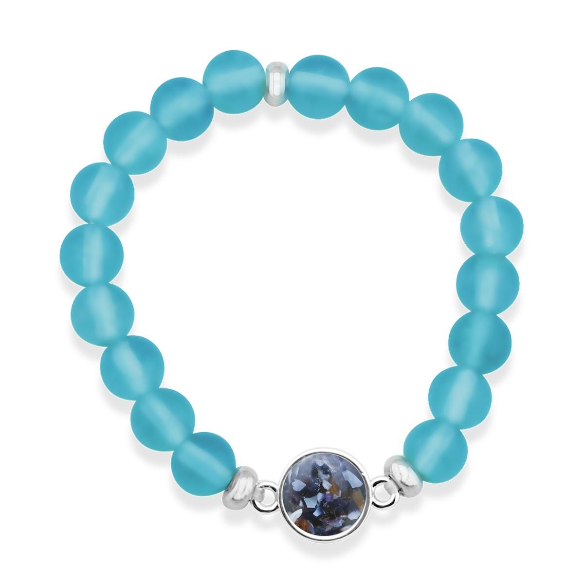 Beach glass nautical jewelry Compass bracelet Sea glass bracelet